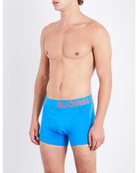 Björn Borg - Blue Pack-of-two Slim-fit Stretch-cotton Trunks for Men - Lyst