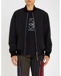 Loewe - Black Tree-print Shell Bomber Jacket for Men - Lyst