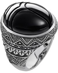 Thomas Sabo - Metallic Rebel At Heart Sterling Silver And Onyx Scarab Beetle Ring for Men - Lyst
