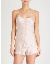 Nk Imode - Pink Ulrika Silk-satin Pyjama Shorts - Lyst