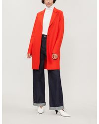 Harris Wharf London - Red Cocoon Wool Coat - Lyst