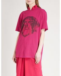 Givenchy - Pink Rottweiler Cotton-jersey T-shirt - Lyst