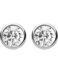 Thomas Sabo - Metallic Classic White Zirconia Stone Sterling Silver Ear Studs - Lyst