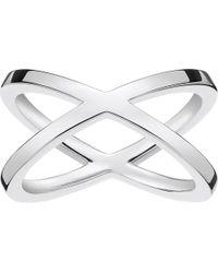 Thomas Sabo - Metallic Criss-cross Sterling Silver Ring - Lyst