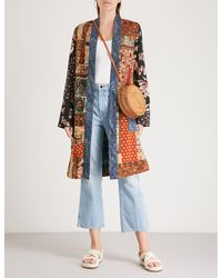 Free People - Blue Songbird Cotton Jacket - Lyst
