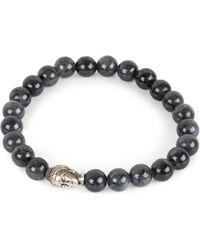 Nialaya | Black Buddha Head Bracelet for Men | Lyst