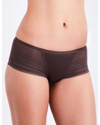 Simone Perele - Brown Muse Jersey And Mesh Shorty Briefs - Lyst