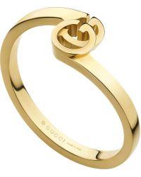 Gucci - Metallic Gg Running Ring In Yellow Gold - Lyst