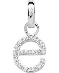 Links of London - Metallic Alphabet E Sterling Silver And Diamond Charm - Lyst