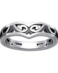 Thomas Sabo - Black Maori Sterling Silver Whale Fin Ring - Lyst