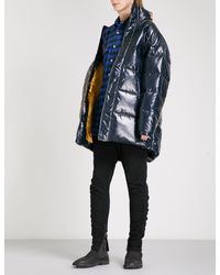 D-ANTIDOTE | Black Longline Shell-down Puffer Jacket | Lyst