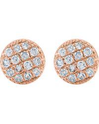 The Alkemistry - Metallic Lauren Joy Mini 14ct Rose-gold And Diamond Earrings - Lyst