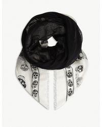 Alexander McQueen - Black Shadow Skull-print Cashmere-blend Scarf - Lyst