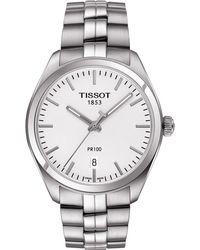 Tissot | Metallic T101.410.11.031.00 Pr 100 Stainless Steel Watch for Men | Lyst