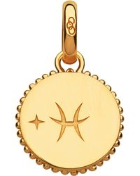Links of London - Pisces 18ct Yellow-gold Vermeil Zodiac Charm - Lyst
