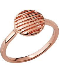 Links of London - Black Thames 18ct Rose-gold Vermeil Ring - Lyst