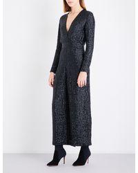 Temperley London | Black Tiara Wide-leg Sequinned Jumpsuit | Lyst