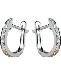 Annoushka - Metallic Eclipse 18ct White Gold And Diamond Hoop Earrings - Lyst