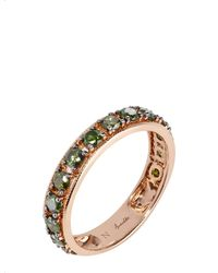 Annoushka - Multicolor Dusty Diamonds 18ct Rose-gold And Diamond Eternity Ring - Lyst