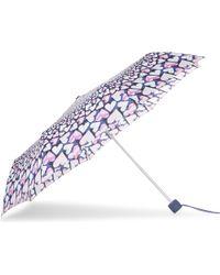 Fulton - Blue Heart Print Umbrella - Lyst