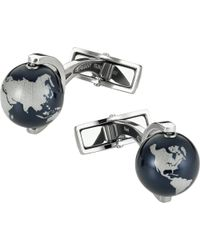 Montblanc - Metallic Iconic Globe Cufflinks - For Men for Men - Lyst
