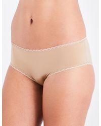 Calvin Klein - Natural Seductive Comfort Jersey Hipster Briefs - Lyst