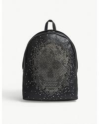 Alexander McQueen - Black Stud Skull Grained Leather Backpack - Lyst