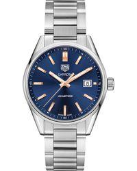 Tag Heuer | Blue War1112.ba0601 Carrera Stainless Steel Watch for Men | Lyst