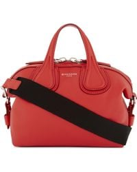 Givenchy | Red New Nightingale Mini Leather Shoulder Bag | Lyst