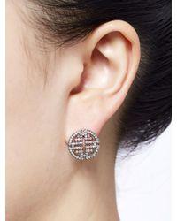 Shanghai Tang - Metallic Shou Crystals Earrings - Lyst