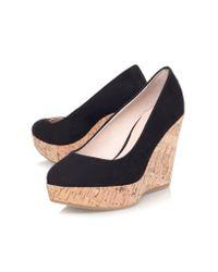 Carvela Kurt Geiger - Black Attend Wedge Heeled Court Shoes - Lyst