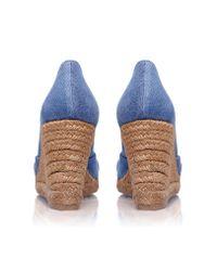 Castaner - Blue Tulsa 8 High Wedge Heel Peep Toe Court - Lyst