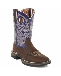 Durango - Blue Lady Rebel By Women's Twilight N' Lace Saddle Western Boot - Lyst