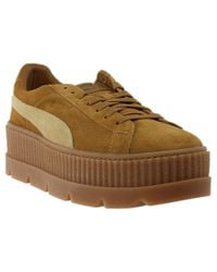 5fe371bb2b2 Lyst - PUMA X Fenty Cleated Creeper Suede in Brown for Men