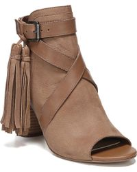 2f88054671c6d5 Lyst - Sam Edelman Vermont Peep Toe Bootie in Brown