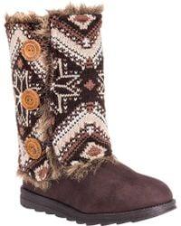 Muk Luks - Brown Reversible Andrea Sweater Boot - Lyst