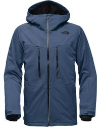 The North Face - Blue Thermoball Snow Triclimate Hooded Jacket for Men - Lyst
