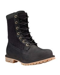 "Timberland | Black Authentics Open Weave 6"" Boot 