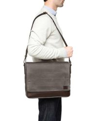Frye - Gray Carter Messenger for Men - Lyst