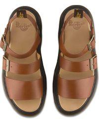 Dr. Martens - Brown Gryphon Strap Sandal for Men - Lyst