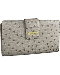 Buxton - Multicolor Ostrich Brights Superwallet - Lyst