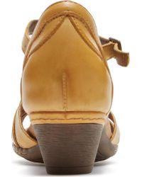Rockport - Multicolor Cobb Hill Abbott Curvy T-strap Sandal - Lyst