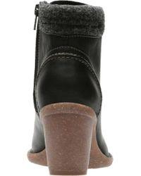 Clarks - Black Carleta Crane Lace Up Boot - Lyst
