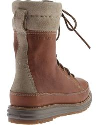 Cole Haan - Brown Lockridge Grand Double Collar Lace Up Boot - Lyst