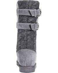 Muk Luks - Gray Jean Mid Calf Boot - Lyst