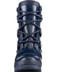 Sorel - Blue Joan Rain Wedge Gloss Boot - Lyst