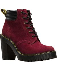 Dr. Martens - Red Persephone 6 Eye Padded Collar Boot - Lyst