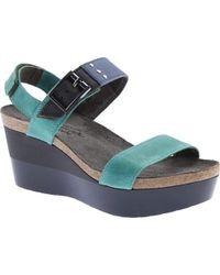 Naot - Blue Alpha Wedge Sandal - Lyst