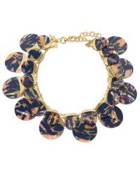 Lele Sadoughi - Blue Twilight Disk Necklace - Lyst