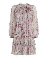Zimmermann - Pink Sunbleach Floral 'winsome Sphere' Dress - Lyst